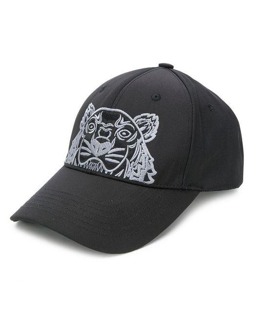 KENZO - Black Tiger Canvas Cap Cobalt for Men - Lyst