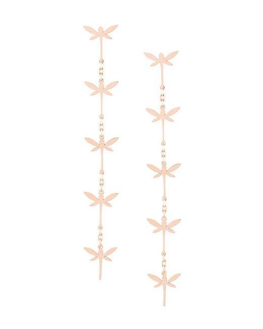 Anapsara - Metallic Dragonfly Drop Earrings - Lyst