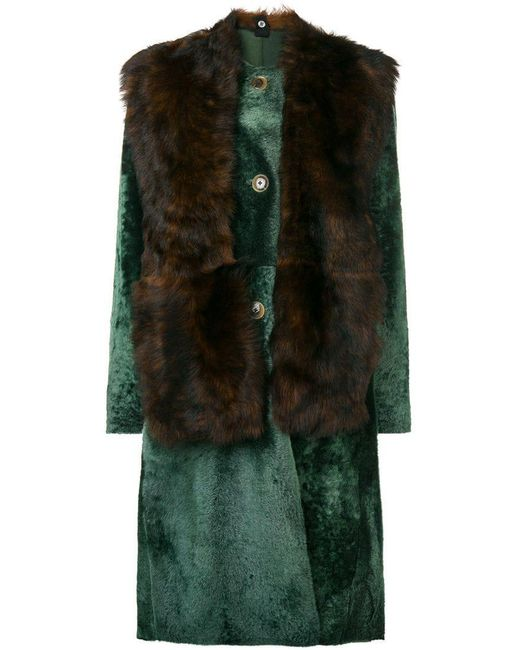 Sofie D'Hoore - Green Lust Fur Coat - Lyst