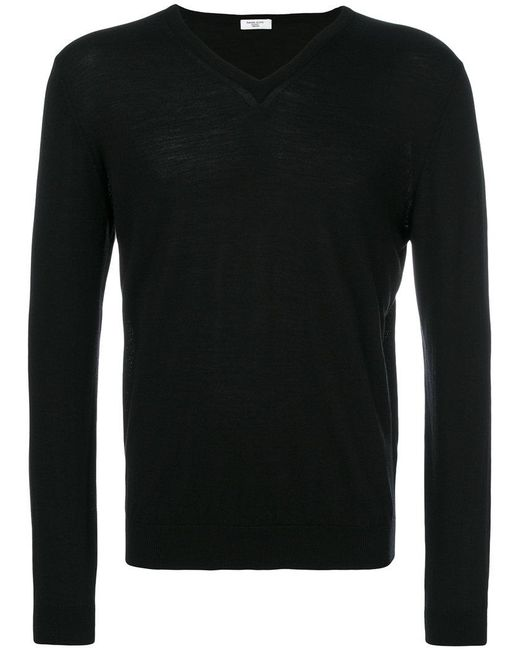 Fashion Clinic Timeless | Black Knitted Sweater for Men | Lyst