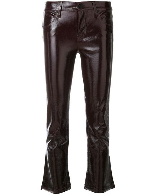 RTA - Red Cropped Slim Trousers - Lyst