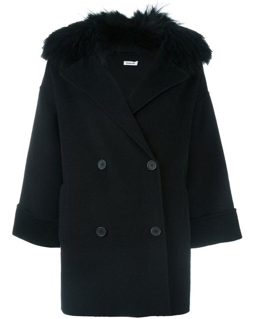 P.A.R.O.S.H. - Black 'loverly' Coat - Lyst