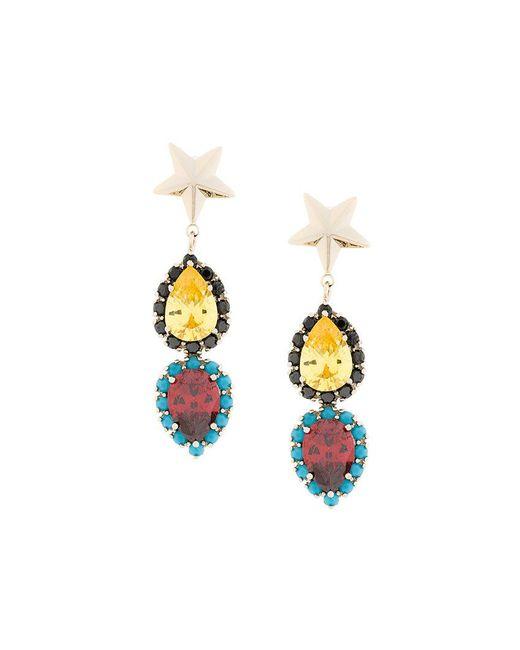 Iosselliani - Metallic Elegua Star Earrings - Lyst