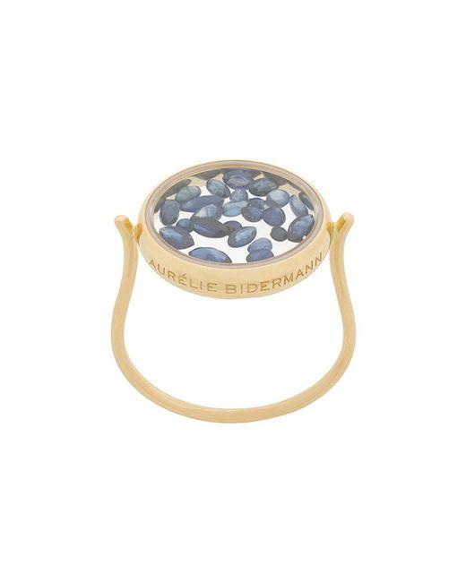 Aurelie Bidermann - Metallic 18kt Yellow Gold Chivoir Sapphire Ring - Lyst
