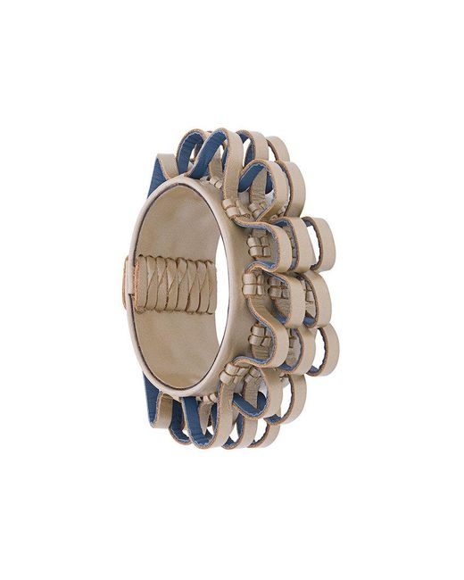 Papieta   Metallic Curly Loop Bracelet   Lyst