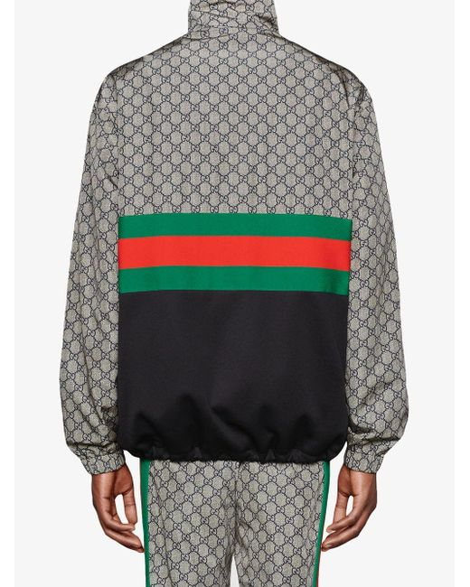 ... Gucci - Gray Giacca Oversize In Jersey Tecnico for Men - Lyst cd935d5ac347