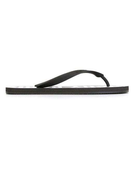 Givenchy - Black 'paris' Flip Flops for Men - Lyst