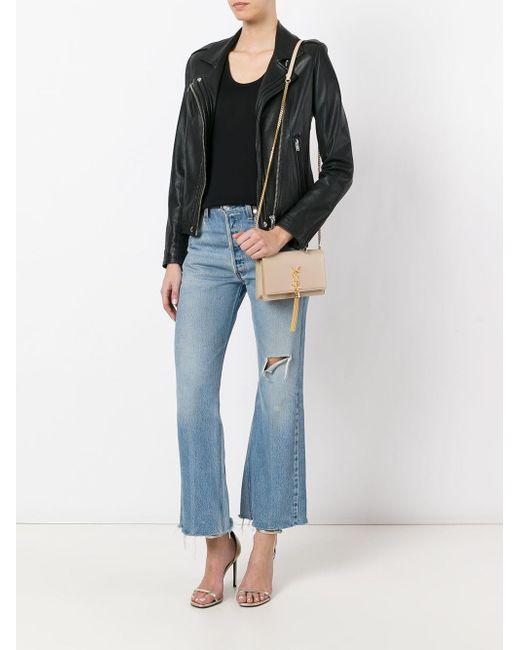 3b260aa1306 ... Saint Laurent - Natural Small Classic Kate Monogram Shoulder Bag - Lyst  ...
