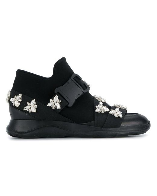 Christopher Kane - Black Embellished Low-top Sneakers - Lyst