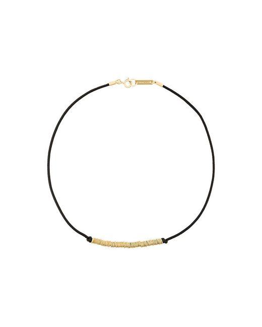 Isabel Marant - Black Leather Hoop Necklace - Lyst