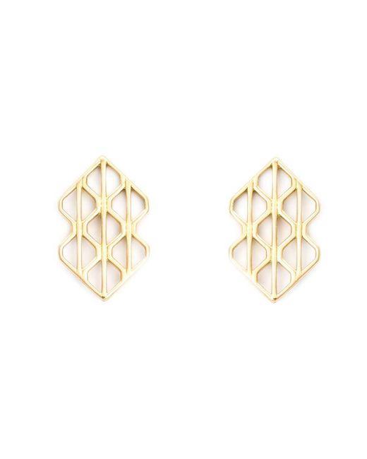 Luis Morais - Metallic 18kt Yellow Gold Large 'p3' Earrings - Lyst