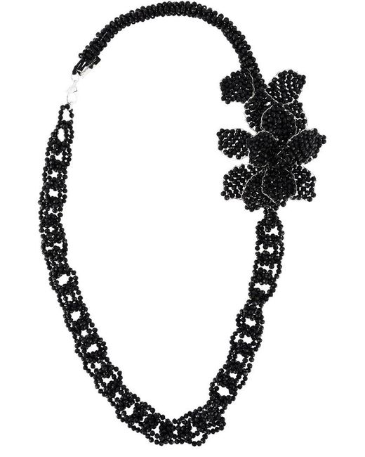 Night Market | Black Beaded Chain Necklace | Lyst