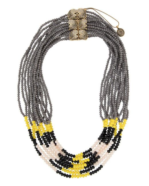 Camila Klein - Metallic Embellished Necklace - Lyst