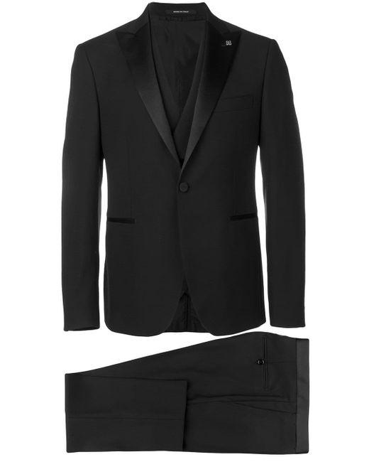 Tagliatore Black Three-piece Suit for men