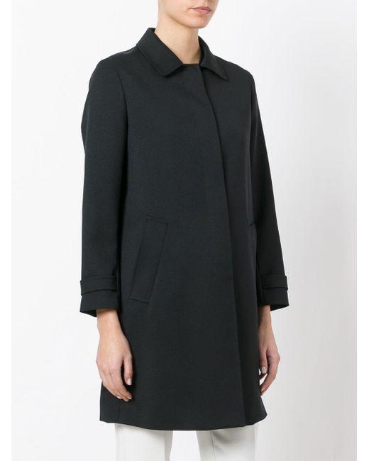 Theory Dafina Car Coat in Black | Lyst