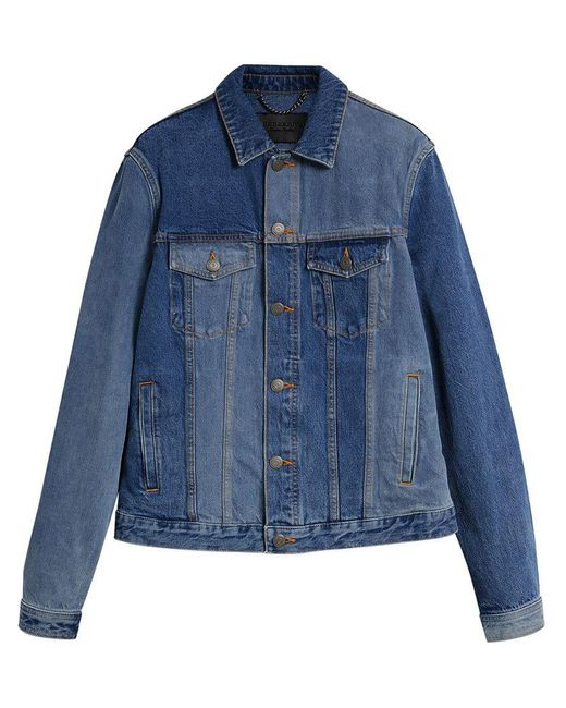 Burberry - Blue Two-tone Jacket for Men - Lyst