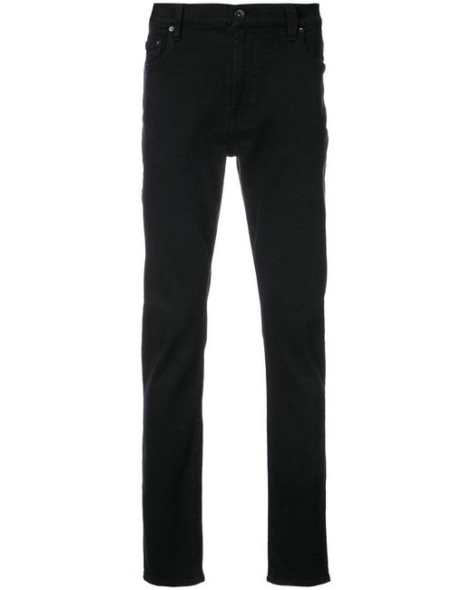 7 For All Mankind | Black Adrien Slim Fit Jeans for Men | Lyst