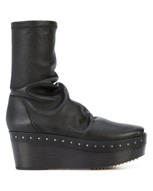 Rick Owens - Black Sabot Sock Boots - Lyst
