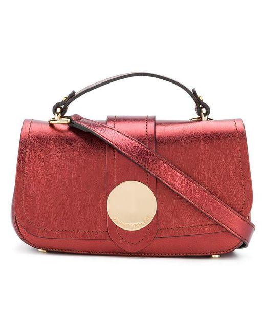 L'Autre Chose - Red Metallic Mini Tote Bag - Lyst
