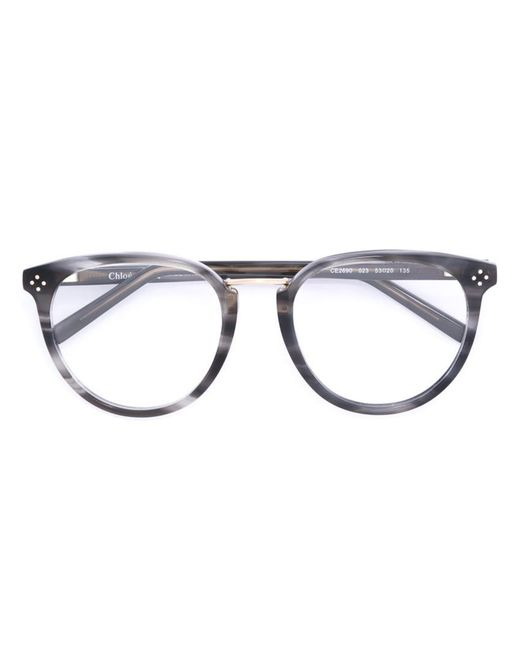 Chloé - Gray Oval Frame Glasses - Lyst