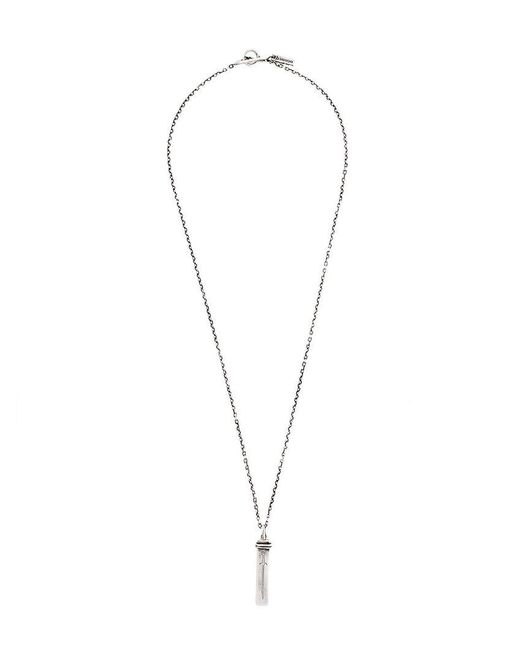 Henson - Metallic Engraved Dagger Necklace for Men - Lyst