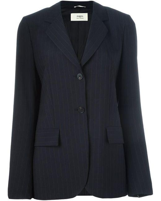 Ports 1961 - Blue Pinstripe Blazer Jacket - Lyst