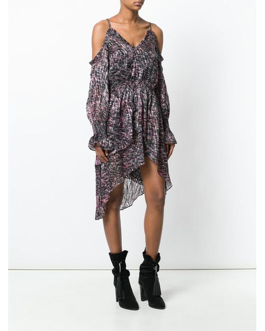 patterned cold shoulder dress - Black Iro LG4q4
