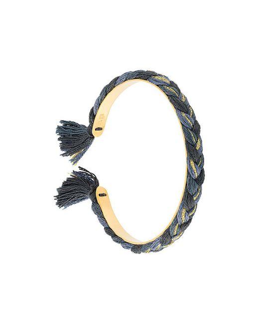 Aurelie Bidermann - Metallic Braided Bracelet - Lyst
