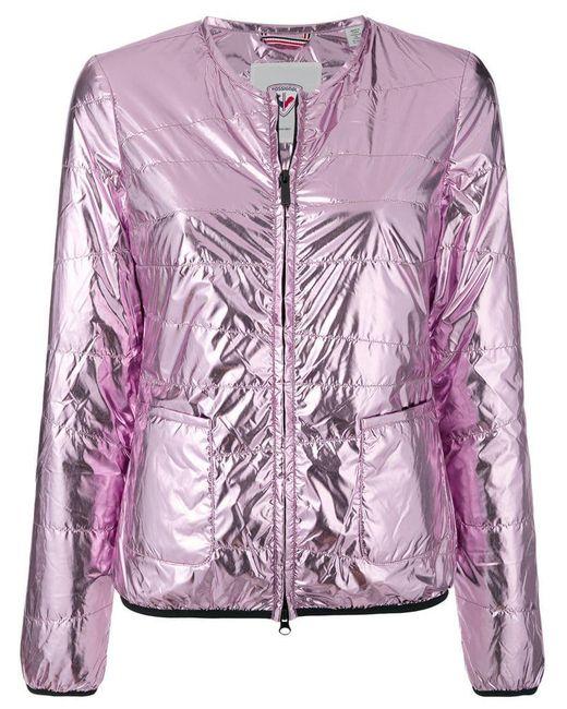 Rossignol - Pink Collarless Laminated Jacket - Lyst