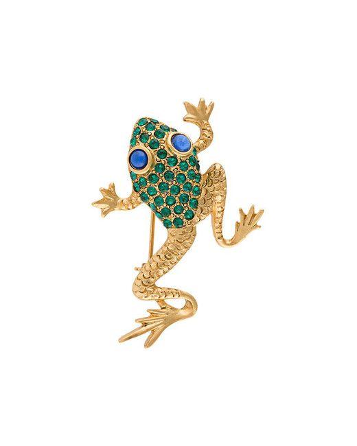 Oscar de la Renta   Green Frog Brooch   Lyst