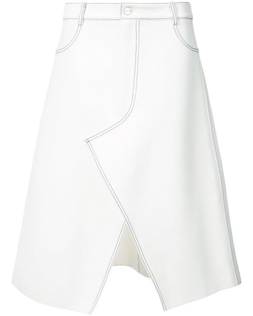 Dion Lee - White Stitched A-line Skirt - Lyst