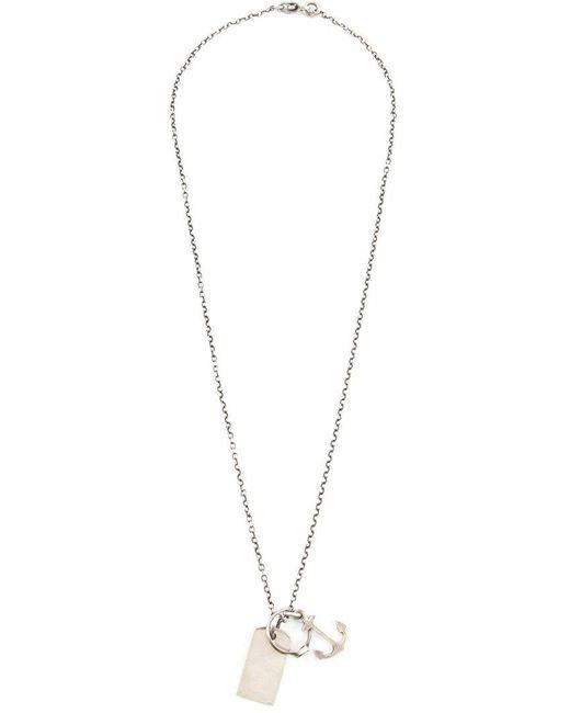 Werkstatt:münchen   Metallic Anchor Necklace for Men   Lyst
