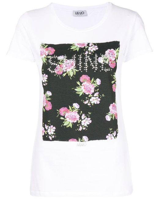 Liu Jo Floral patch T-shirt TdYz307