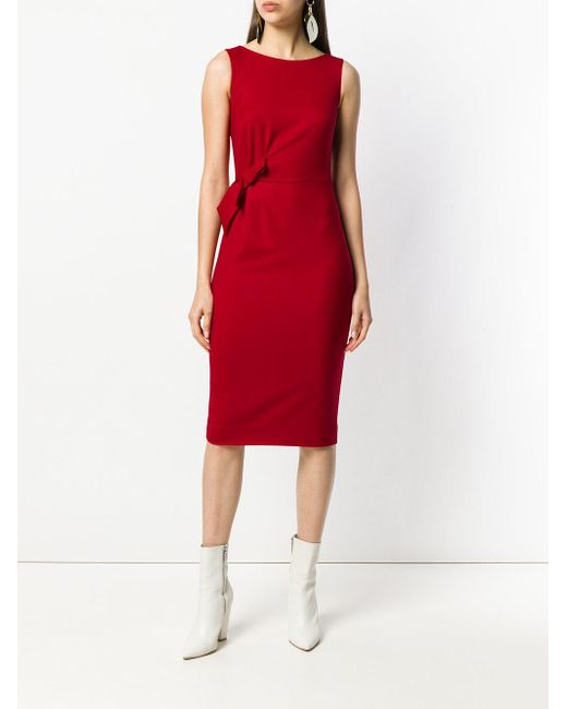 bow-tied midi dress - Red P.A.R.O.S.H. GWf84
