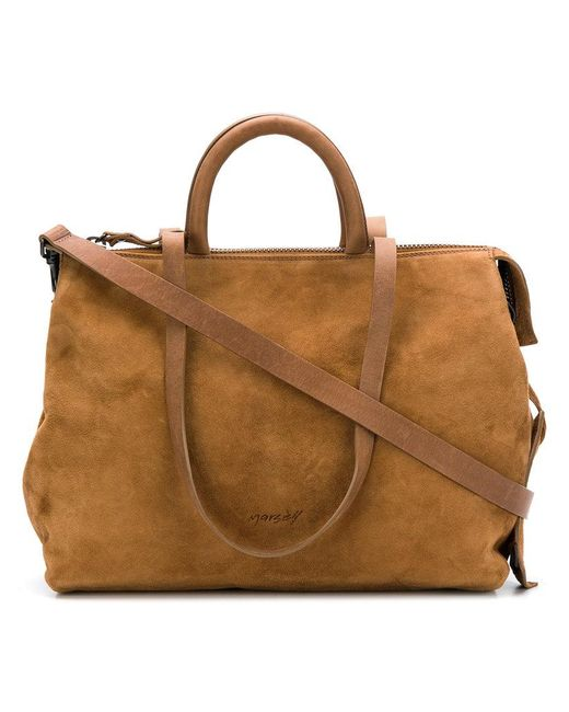 Marsèll - Brown Top Zipped Tote Bag - Lyst