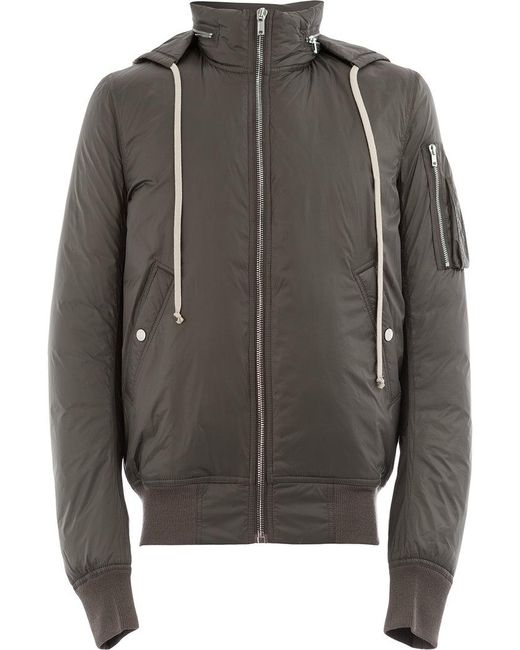 Rick Owens - Gray Padded Jacket for Men - Lyst