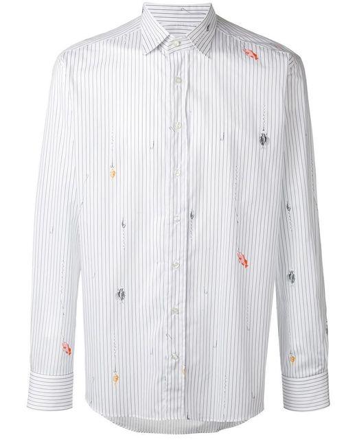 Etro - White Striped Shirt for Men - Lyst