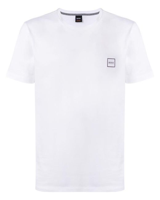 BOSS - White Brand Logo T-shirt for Men - Lyst