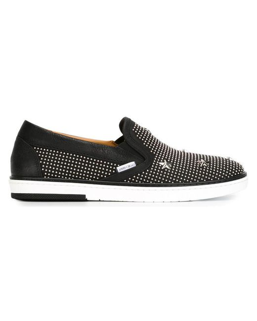 Jimmy Choo   Black Grove Leather Sneakers for Men   Lyst
