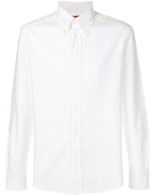 Barena - White Curved Hem Shirt for Men - Lyst