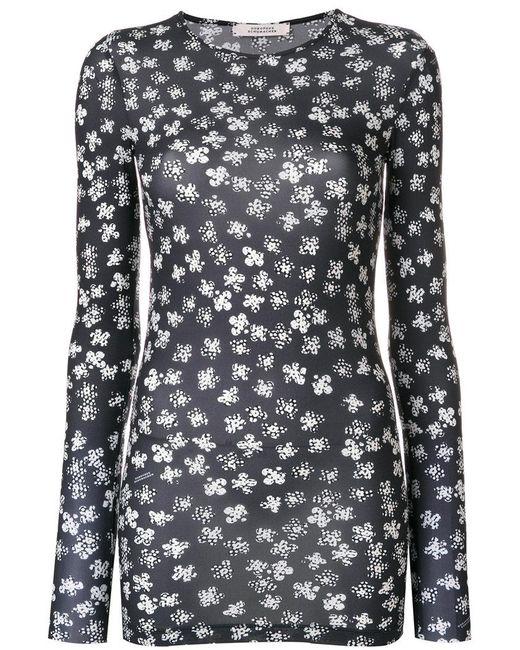 dorothee schumacher floral print blouse in black lyst. Black Bedroom Furniture Sets. Home Design Ideas