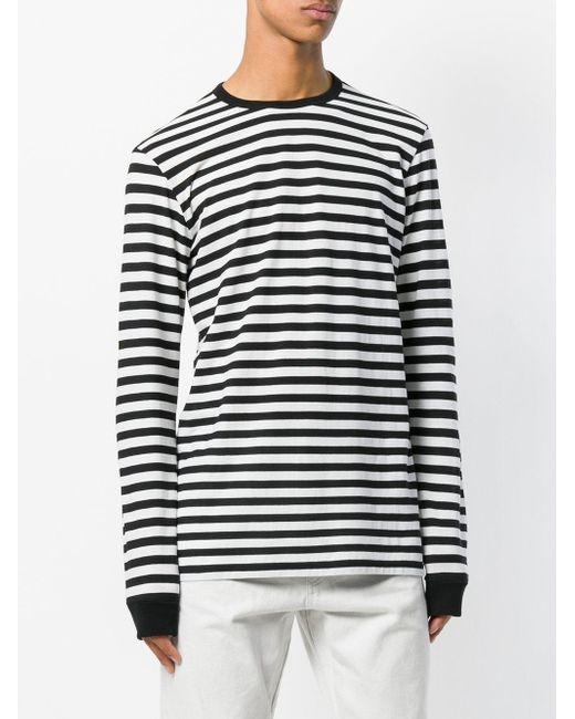 b578f727 ... Golden Goose Deluxe Brand - Black Striped Long Sleeve T-shirt for Men -  Lyst ...