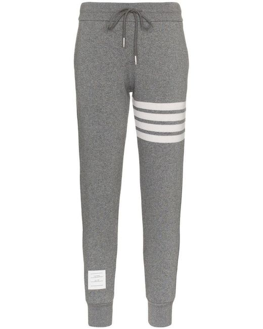 Thom Browne - Gray Striped Track Pants - Lyst