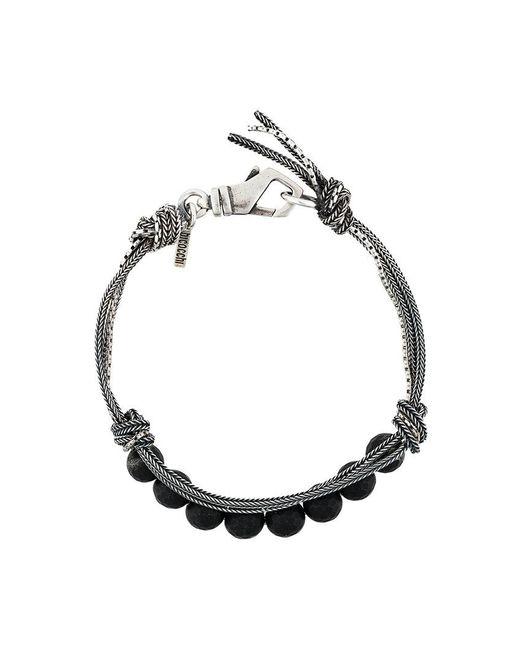 Emanuele Bicocchi | Metallic Beaded And Woven Bracelet for Men | Lyst
