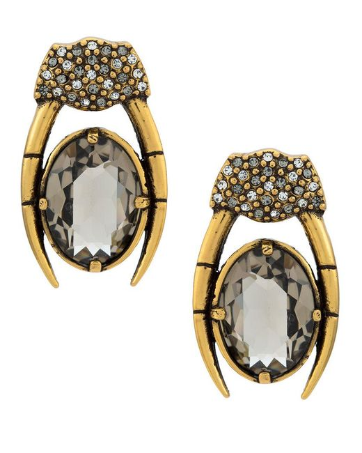 Camila Klein - Metallic Millipede Earrings - Lyst