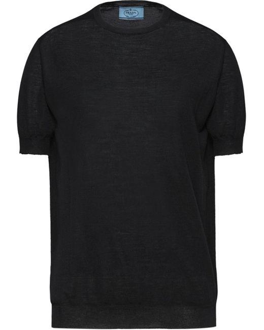 Prada Black Shortsleeved Jumper
