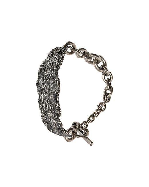 Tobias Wistisen | Metallic Wood Piece Effect Bracelet for Men | Lyst