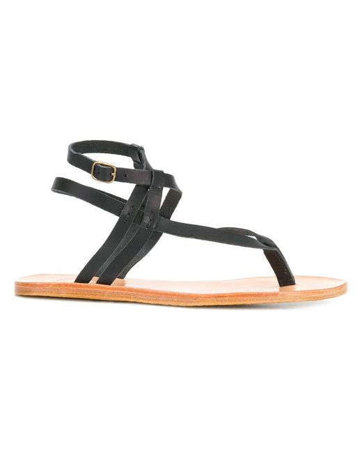 N.d.c. Made By Hand - Black Thong Sandals - Lyst