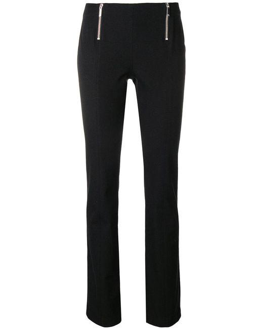 MICHAEL Michael Kors - Black Zipped Skinny Trousers - Lyst
