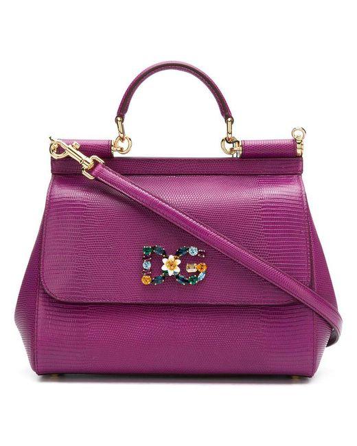 317a86ef3b3 ... Dolce Gabbana - Pink Small Sicily Bag - Lyst ... new arrival 71ec6  71ad0 ...